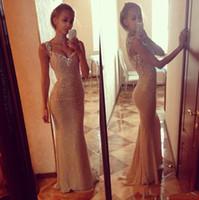 2020 Bling Goldabendkleider Sequin-Korsett-Nixe-Schatz-Lange Bester Verkauf formales Kleid Luxusabendkleider Plus Size Vetidos Hot Verkauf