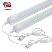 T8 LED Light Fixture -2ft 1680LM 6500K Bianco 14W Negozio di utilità Soffitto luminoso e sotto armadio elettrico a luce a luce con interruttore on / off