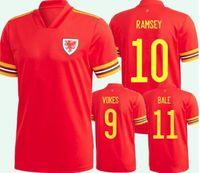 Galler Futbol Formaları 2021 Ulusal Takım Eve Uzakta Balya James Ramsey Erkekler Çocuklar Maillot De Futbol Gömlek Allen Vokes Camiseta Futol Üniforma