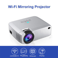 Novo Projetor Android 4.2 Suporte Miracast Airplay Android IOS Telefone Pad para 2.4 / 5G WI-FI Morroring Projetor 1400 Lumens LED Projetor