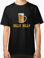 Beer Dilly Dilly Men' s T Shirt Black Cool T- Shirts Desi...