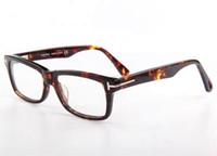 Marco mayorista-Men vidrios ópticos Tom 5146 Primera marca Plank Eyeglas grandes del capítulo de las mujeres retras de la miopía Gafas Marcos con el caso