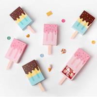 3D Ciglia finte Packaging del gelato di DIY documento vuoto di caso Lash Ciglia Box Lash Extension Box o favori di partito Chocolate Candy Box
