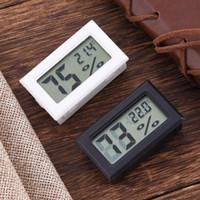 لاسلكي شاشات الكريستال السائل الرقمية داخلي درجة حرارة رطوبة ميزان الحرارة البسيطة الرطوبة متر أسود أبيض 1PC J3