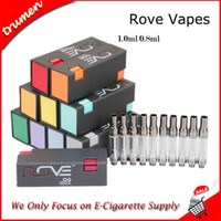 Hot Rove Vape Cartridges Carrelli Pyrex Glass Tank 0.8ml 1.0ml Ceramic Coil Thick Oil con 11 sapori Sticker Top Filling No Leakage Atomizer