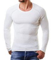 Рукавами топ мужские дизайнер драпированные свитера свободного покроя трикотажные О-образным вырезом с длинным