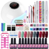 Nail Art Set 24W UV LED Gel Lamp For Nail Manicure Set 10PCS...