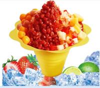 1000 pçs / lote descartável sorvete de plástico Parfait sundae copa forma de Flor xícaras Bowls 250 ML Evento Festa de Casamento