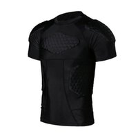 Men Anti-collision Quick Basketball  Football Body College Training Short Jersey T-shirt Jerseys Protection Dry