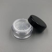 واضح 1 جرام 1 ملليلتر البلاستيك مسحوق نفخة الحاويات حالة ماكياج التجميل الجرار الوجه مسحوق الخدود تخزين مربع مع أغطية sifter