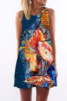 beautiful dress Hot sale Designer brand personality abstract...