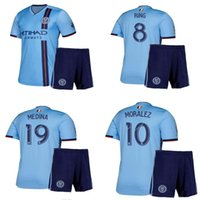 Kit adulto 2019 2020 New York City Camisa de Futebol 19 20 DAVID VILLA LAMPARD MORALEZ MATARRITA PIRLO Casa Fora Camisas De Futebol Camisa