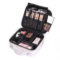 Nowa profesjonalna torba do makijażu kobiety kosmetyczne wysokiej jakości pu skóra koreańska makijaż pudełko Duża torba do przechowywania podróży