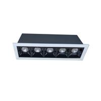 Униформа Освещение 90РА Лазерное лезвие Современное Нет Основное освещение Dimmable 2W 2WX2 2WX5 утопленный линейный светодиодный подсветка маленький луч 15 30 45
