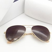 Moda Polarize Güneş Gözlüğü 58mm Pilotlar Vintage Erkek Kadın Tasarımcı Gafas De Sol UV400 Güneş Gözlükleri Marka Sürücü Kutusu Kılıfları ile Shades
