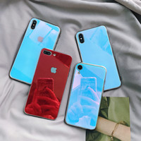 Tempered Glass Case For iPhone XS XR 7 8 X 6 6S Plus Gradien...