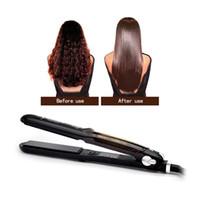 Argán profesional aceite de infusión de vapor de cerámica plana de hierro de vapor plancha de pelo Fast Herramientas Calefacción plancha para el pelo