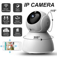 Security Camera Wireless IP Camera panoramica audio bidirezionale di visione notturna casa di sorveglianza IP con Motion Detection per Baby Elder Pet Nanny
