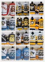 Jersey de hóquei vintage 66 Mario Lemieux Pittsburgh Penguins Gelo Hóquei Mario Lemieux Vintage Jerseys CCM TODOS OS PLOSE PRETO AZELO AZUL