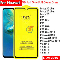 Для Huawei Mate30 Lite Mate20 Mate 20 30 P30 P30LITE P20 PR0 P smart z plus Y5 Y6 Y7 Y9 2019 9D Full Coverage полный клей закаленное стекло