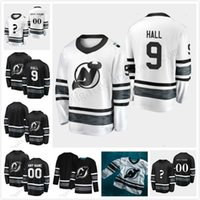 All-Star Game 2019 Parley Personnaliser Maillots Hommes Femmes Jeunesse Noir Blanc # 9 Taylor Hall New Jersey Devils Maillots de Hockey Cousu S-XXXL