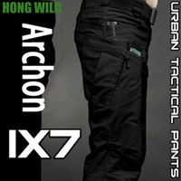 IX7 City Tactical Cargo Pants Men Combat SWAT Army Pantaloni cotone tasche Stretch Paintball Militar Pantaloni casual
