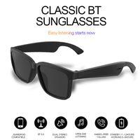 أعلى تصنيع المعدات الأصلية اللاسلكية الصوت بلوتوث النظارات الشمسية سماعات مع تقنية الأذن المفتوحة تجعل الأيدي الحرة نظارات بلوتوث الإجابة المكالمات
