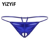 Bikini Men Shiny Metallic Jockstrap Thongs Lingerie Low Rise...