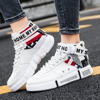 Fashion Man and women Flat Heel Casual high- top sports canva...