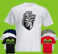 Grenade Heart Mens PRINTED T- SHIRT Cartoon