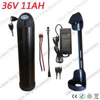 500W 36V 10AH Su Şişesi Li-ion Pil Elektrikli Bisiklet Aküsü 36V 10AH BMS 42V 2A Şarj Cihazı ile Ebike lityum iyon pil.