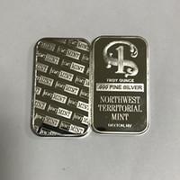 10 pcs Não Magnetic Northwest TERRITORIAL 1 OZ hortelã latão prata núcleo banhado lingote badge 50 milímetros x 28 mm decoração Collectible moeda bar