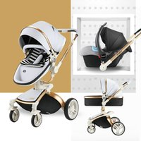 High landscape stroller Four Wheels Stroller 3 in 1 baby 2- i...