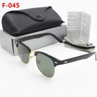 1pcs New protetor de alta qualidade da moda retro olho óculos armação de plástico caixa preta de proteção da lente de vidro UV400 51mmHD preto