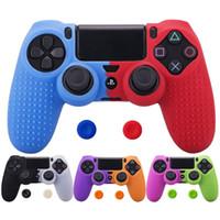 2 엄지 손가락이 모자 그립 소니 플레이 스테이션 4 PS4 프로 슬림 컨트롤러 게임 패드 커버를위한 새로운 실리콘 커버 스킨 케이스