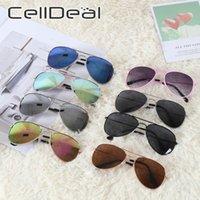 Estructura de metal gafas de sol polarizadas UV400 Espejo anti-UV muchachos de las muchachas de viajes Kid vidrios de Sun de las gafas de sol para niños de 8 colores