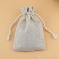 Новые ювелирные изделия льняные сумки DrawString Bags Pouch 8x10cm 9x12cm 10x15cm wedding party holder holder Хлопок подарочная упаковка