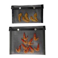 غير عصا شبكة الشوي حقيبة قابلة لإعادة الاستخدام BBQ خبز BagHigh مقاومة درجة الحرارة من السهل أدوات نظيفة في الهواء الطلق BBQ نزهة أدوات المطبخ JK2006
