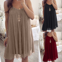 Plus Size Women Sexy Sleeveless Strappy Ladies Casual Party ...