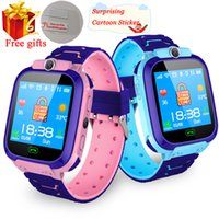 Impermeabile Bambini astuti Guarda SOS Antil-perso Smartwatch bambino 2G SIM Clock Chiama Luogo Tracker Smartwatch PK Q50 Q90 Q528.