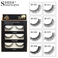 SHIDISHANGPIN 3 Pair False Eyelashes Real 3D Soft Long Natur...