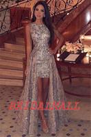 드레스 드 피에스타 드 graduación2020 골드 장식 조각은 고 낮은 파티 드레스 드 레이스를 공식적인 저녁 드레스 저렴한 칵테일 파티 드레스