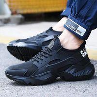Lizeruee рабочая обувь безопасности 2020 мода кроссовки ультра-легкие мягкое дно мужчины дышащий анти-разбив стальным носком работы сапоги F025