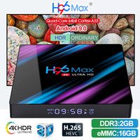 Android TV Box H96 MAX Android 9.0 RK3318 2 + 16GB 4 + 32 / 64GB Suporte WIFI 2,4 + 5 GHz Bluetooth 4.0