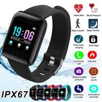 Smart Armband Fitness Tracker Herzfrequenz-Blutdruckmessgerät IP67 Wasserdicht Sport Smart Band 116 Plus Für Android IOS 116plus
