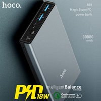 HOCO 30000mAh Power Bank 18W PD USB Type C Charge rapide 3.0 Powerbank 30000 mAh 3.0 FCP Chargeur de batterie externe pour Xiaomi