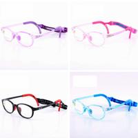Kinder Silikongläser Mode Rahmen Elastische Schnur Kinder Eyewear Rahmen mit Kopfband Schnur Candy Farbe Brillen LT-TTA1260