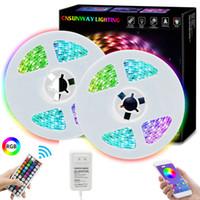 5m RGB bande SMD 5050 150 Bande LED + 44 touches RF à distance avec Bluetooth + APP + 12V 3A expédition libre d'alimentation