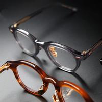 negócios de alta qualidade Acetato Lazer Prescription Estilo Óculos Homens Vintage Retro Óculos Mulheres Optical Spectacle polígono Quadro