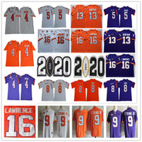 2020 Remendo Clemson tigres 16 Trevor Lawrence 8 Justyn Ross 9 Travis Etienne Jr. 4 Deshaun Watson Hunter Renfrow 5 T Higgins NCAA Equipamentos